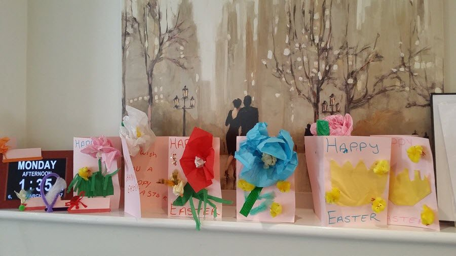 Easter Cards at Gresham lodge Care Center