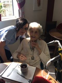 Resident & Carer at Gresham Lodge Care Home